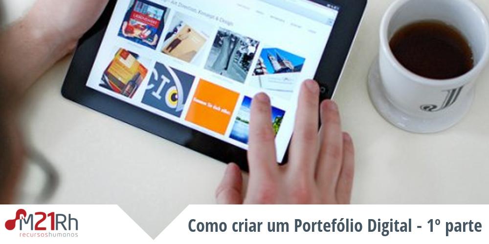 criar um portefólio digital