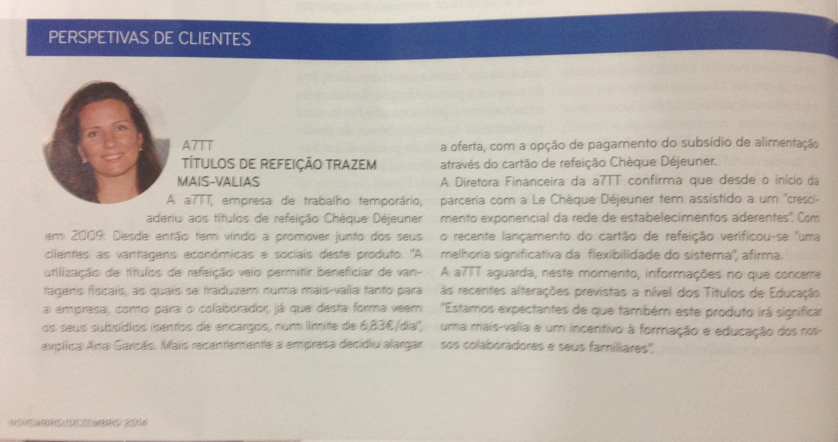 Entrevista dada pela Drª Ana Garcês